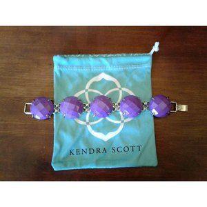 Kendra Scott Neon Violet Purple Cassie Bracelet